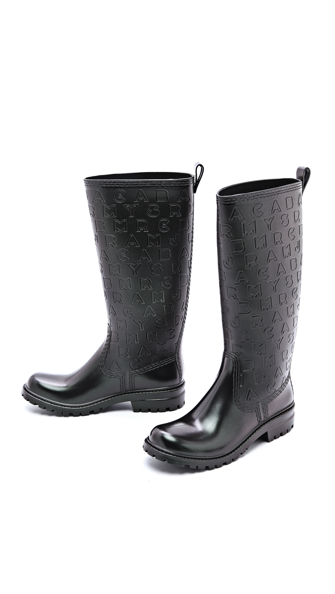 marc by marc jacobs rainy day rain boots in black beetle. Black Bedroom Furniture Sets. Home Design Ideas