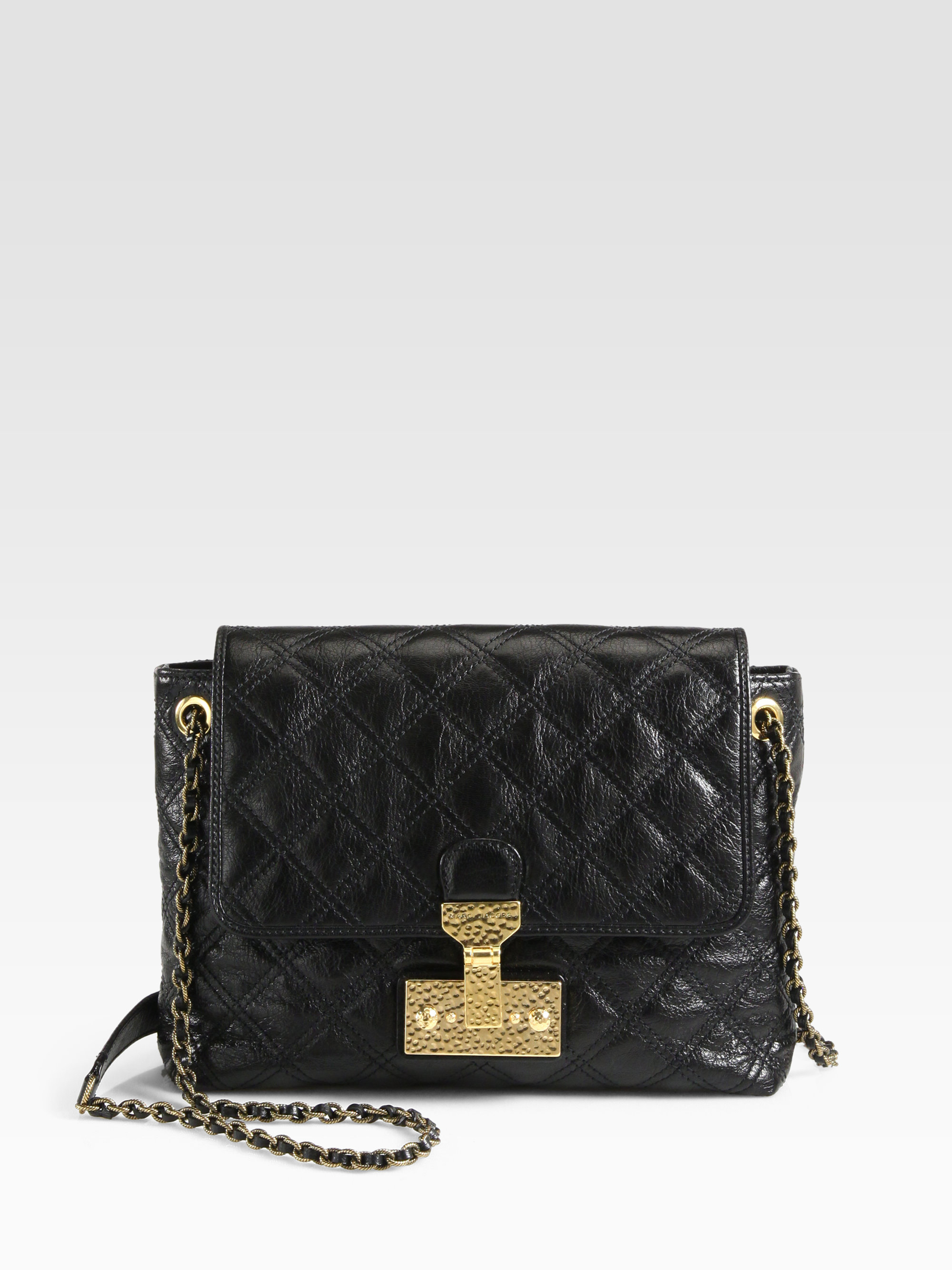 Marc jacobs Baroque Xl Single Quilted Shoulder Bag in Black   Lyst : marc jacobs quilted bags - Adamdwight.com