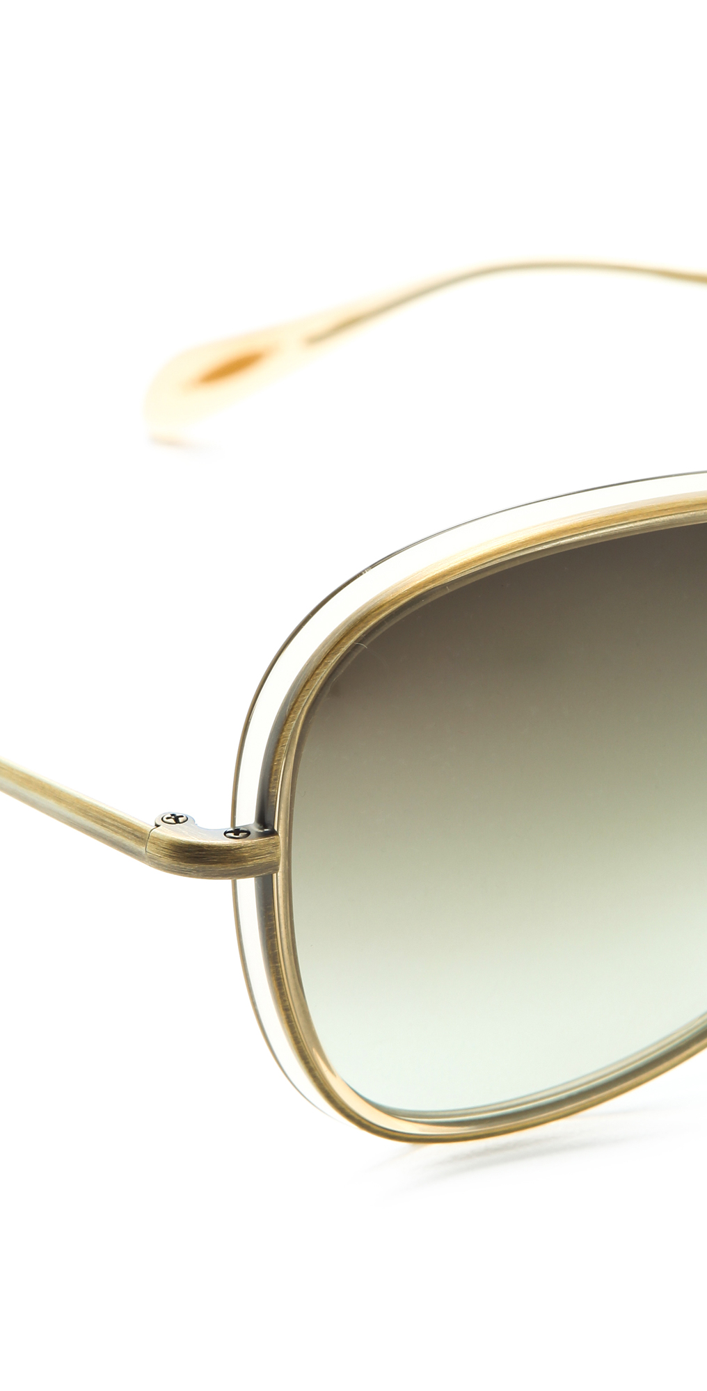 Oliver Peoples Emely Sunglasses  oliver peoples emely sunglasses in metallic lyst
