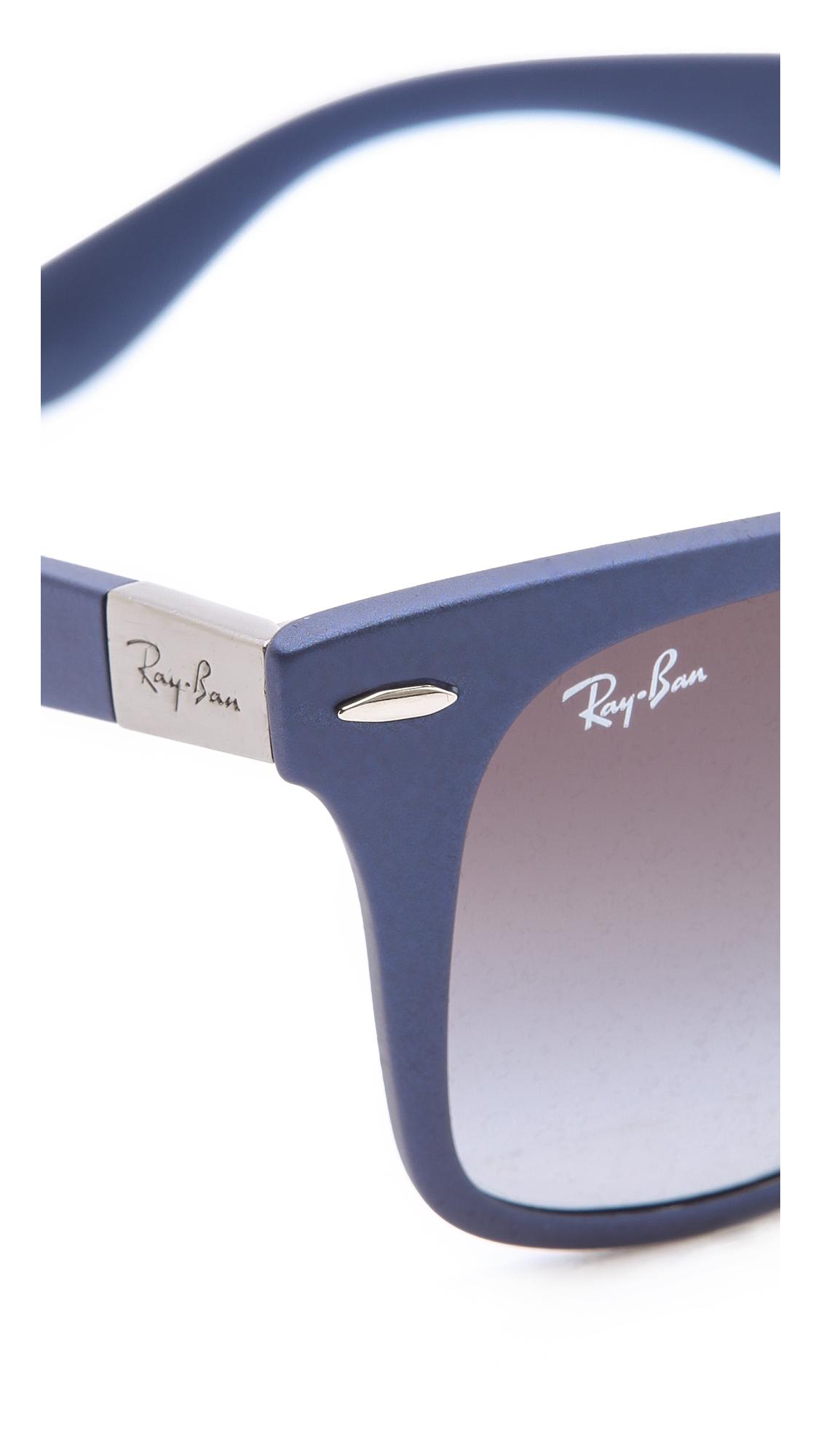 Lyst Ray Ban Light Force Matte Wayfarer Sunglasses In Blue