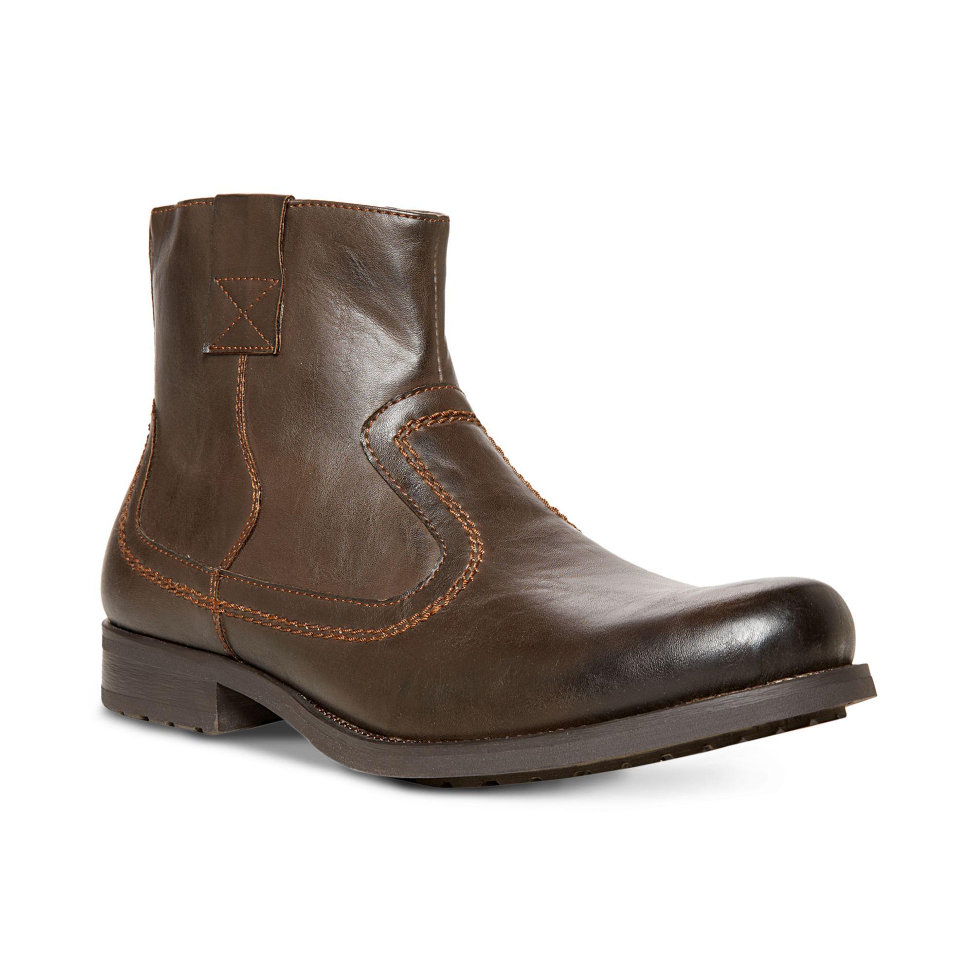 steve madden solarr boots in brown for men lyst. Black Bedroom Furniture Sets. Home Design Ideas
