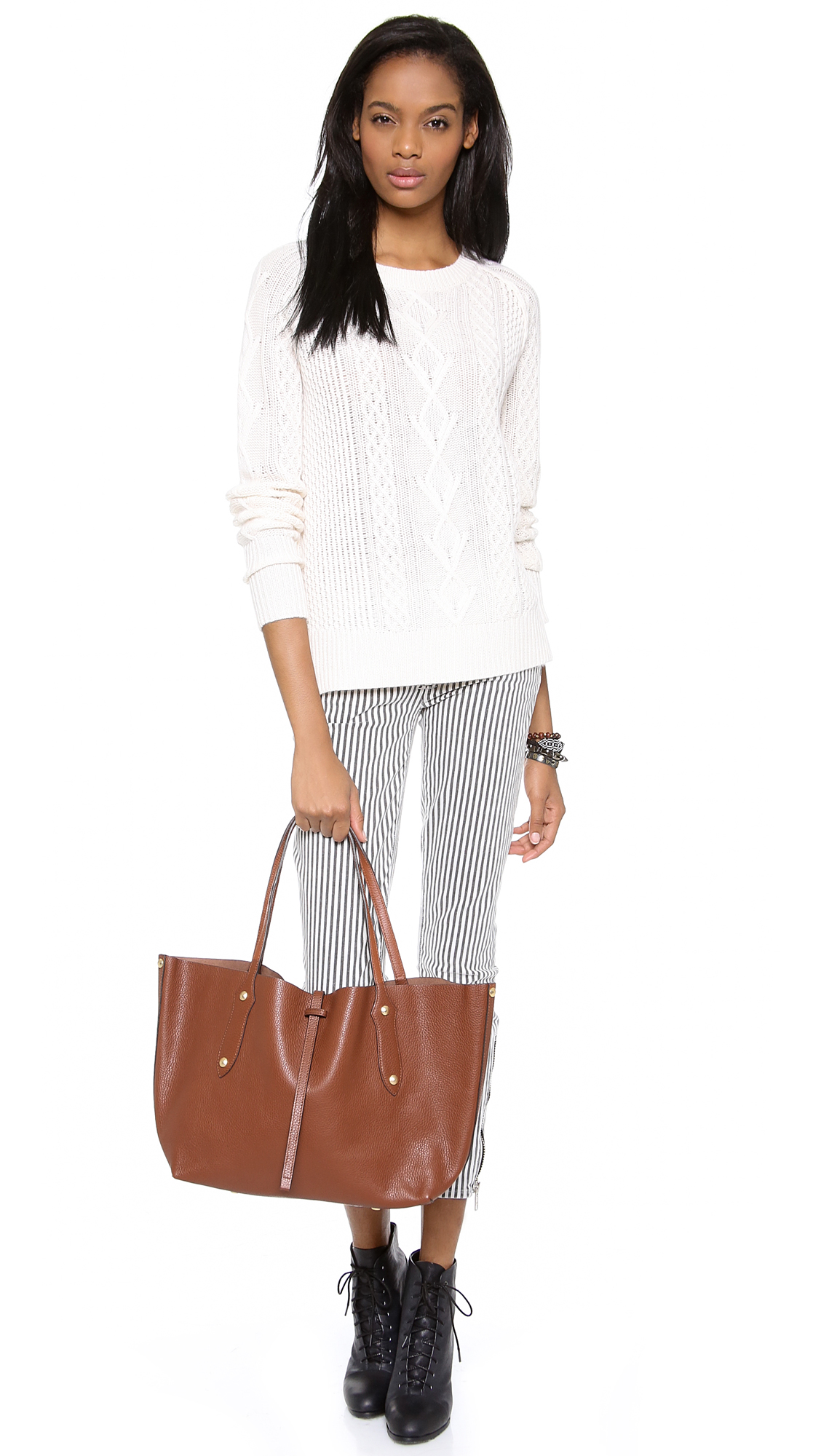 Lyst - Annabel Ingall Small Isabella Tote in Brown 767fd8a3a95a5