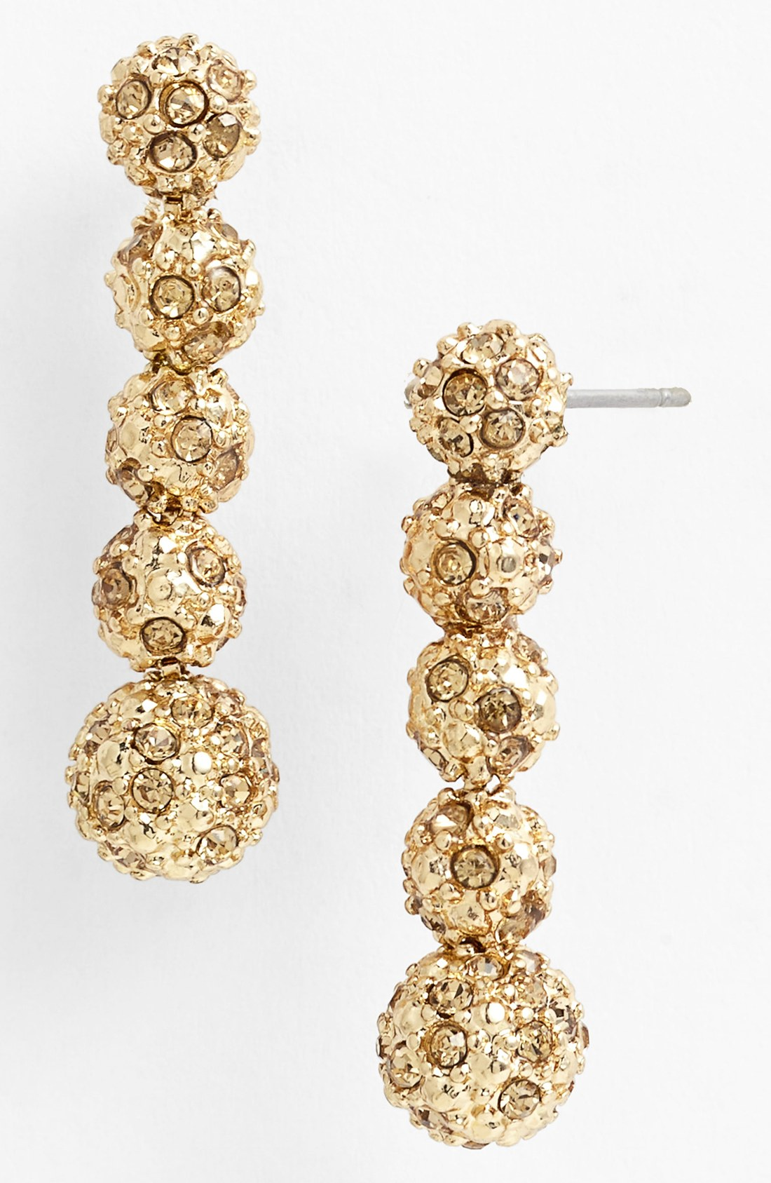 klein stacked fireball earrings in gold topaz gold