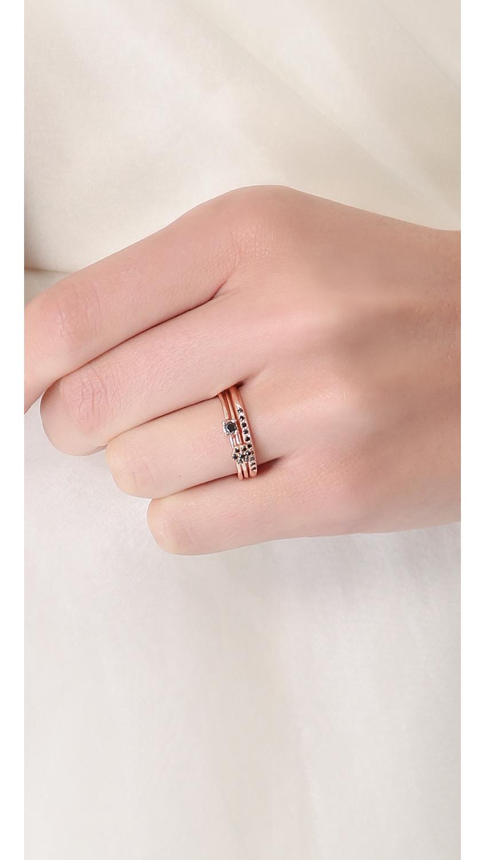 Lyst - Blanca Monros Gomez Brilliant Cut Black Diamond Solitaire ...