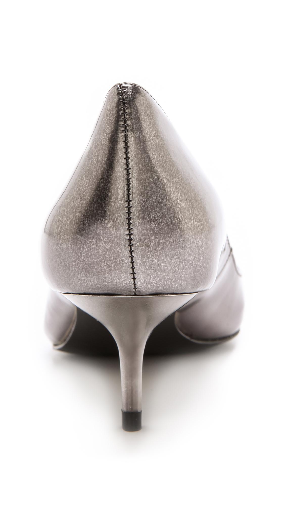 59346f1782d Lyst - Boutique 9 Sophina Metallic Pumps On Kitten Heel in Metallic