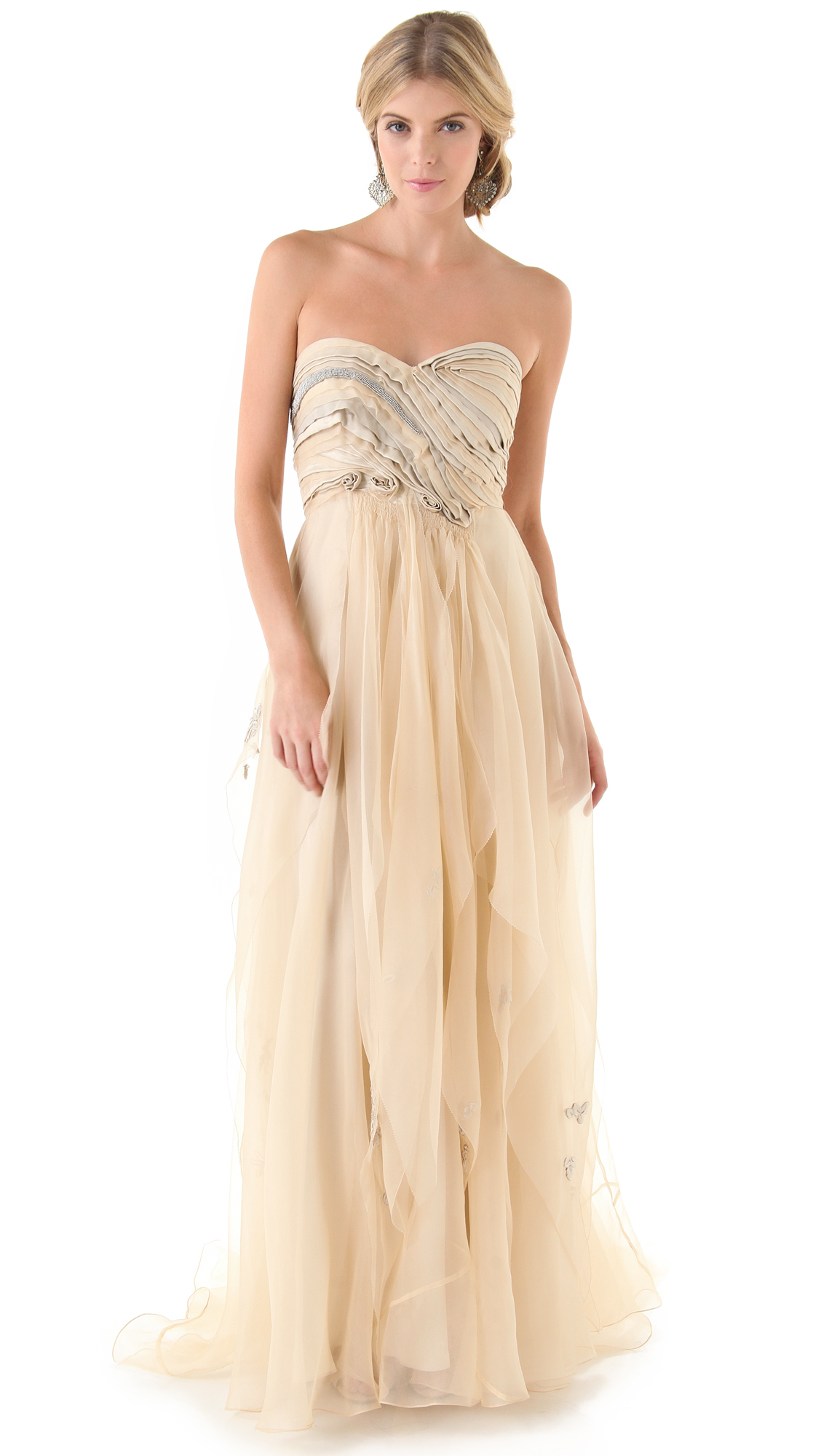 Lyst - Catherine Deane Giselle Strapless Gown - Ecru in Natural