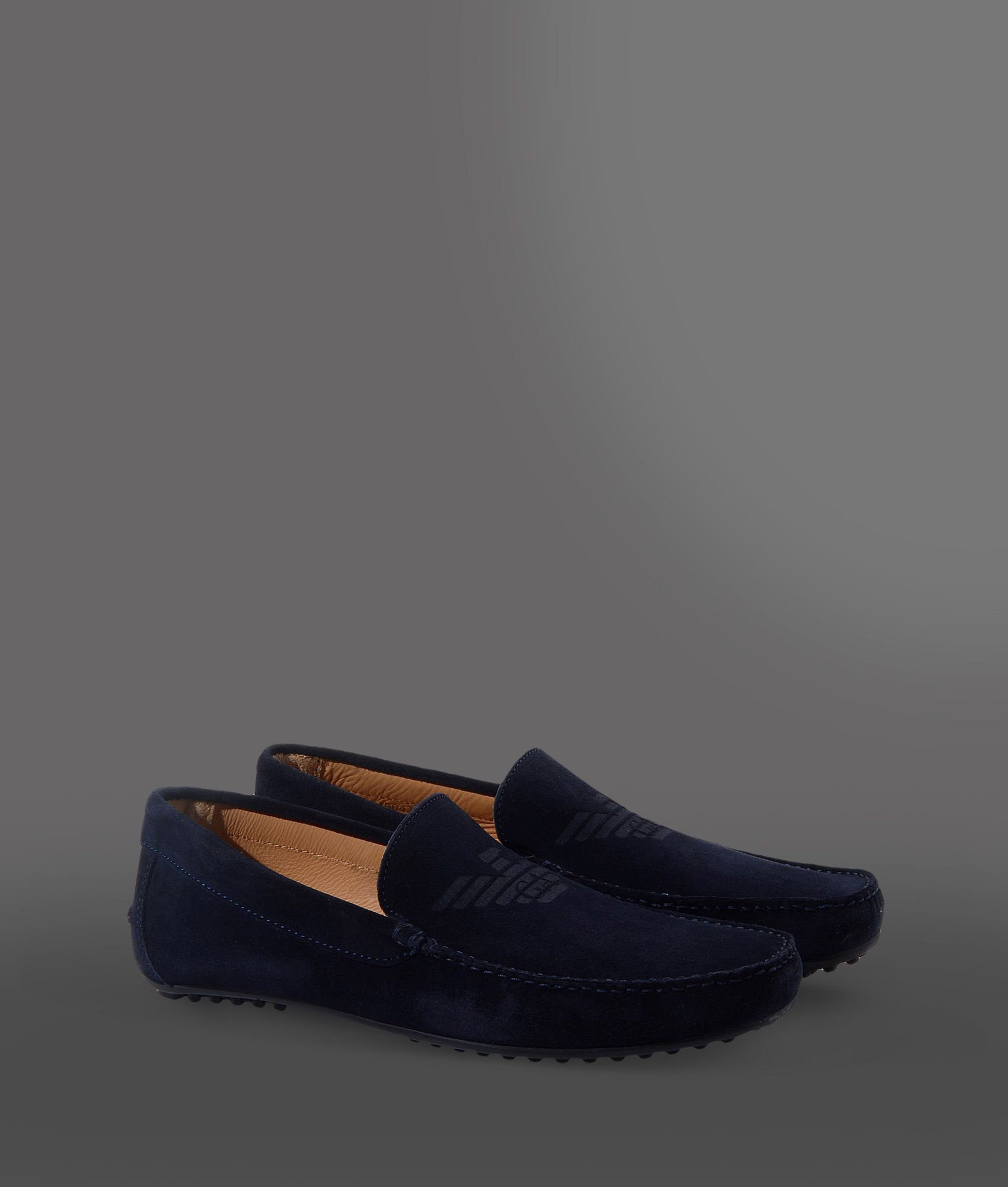 ae01b0a3301a Lyst - Emporio Armani Loafers in Blue for Men