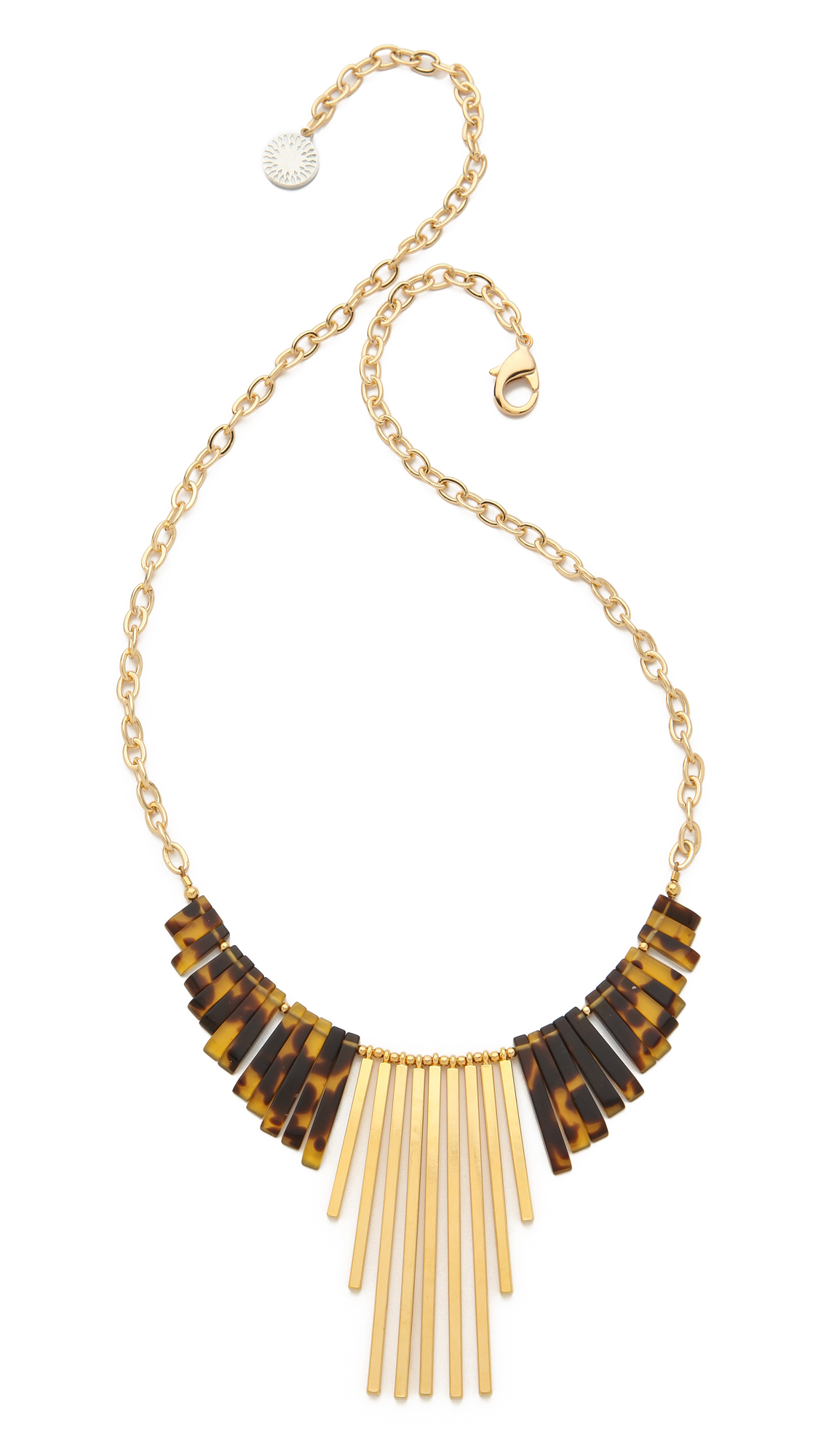 Gemma redux Tortoiseshell Long Drop Necklace in Metallic | Lyst