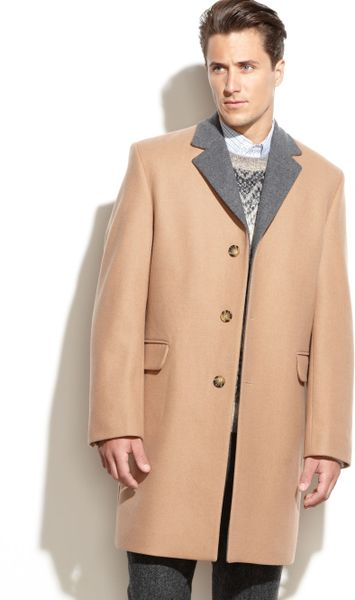 Michael Kors Sutton Woolblend Overcoat in Beige for Men (Camel)