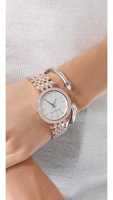 df8d4aa80ada Lyst - Michael Kors Everyday Bling Darci Watch in Metallic