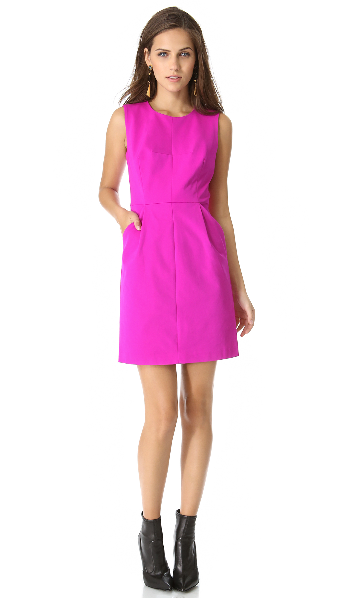 Lyst Milly Coco Dress In Pink