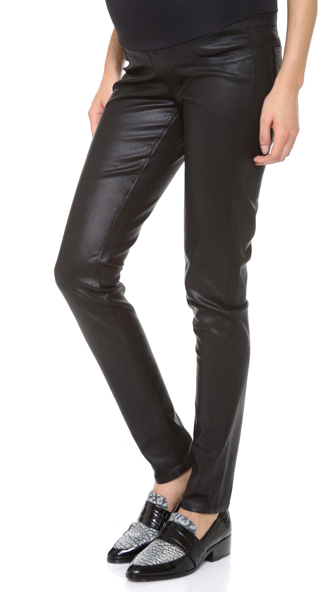 Womens Coated Skinny Jeans