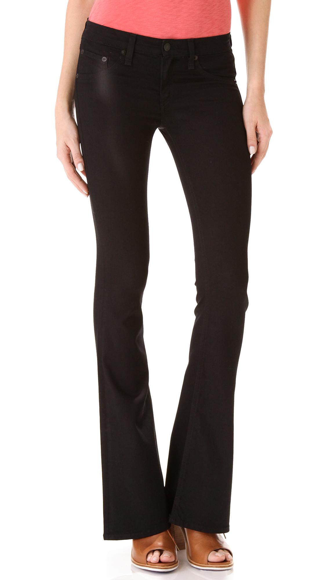 Womens Black Ripped Skinny Jeans