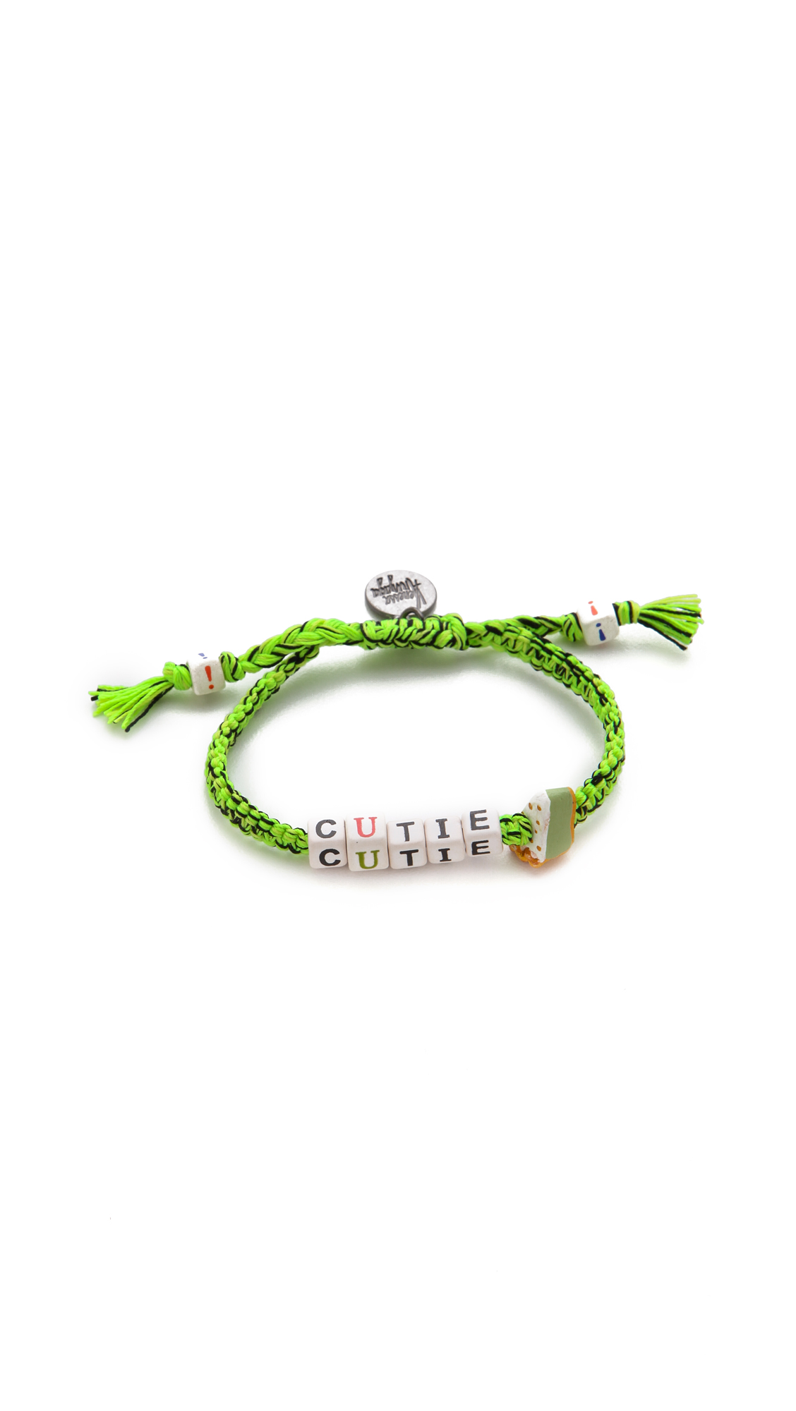 Venessa Arizaga Green Multi Charm Bracelet l4kad