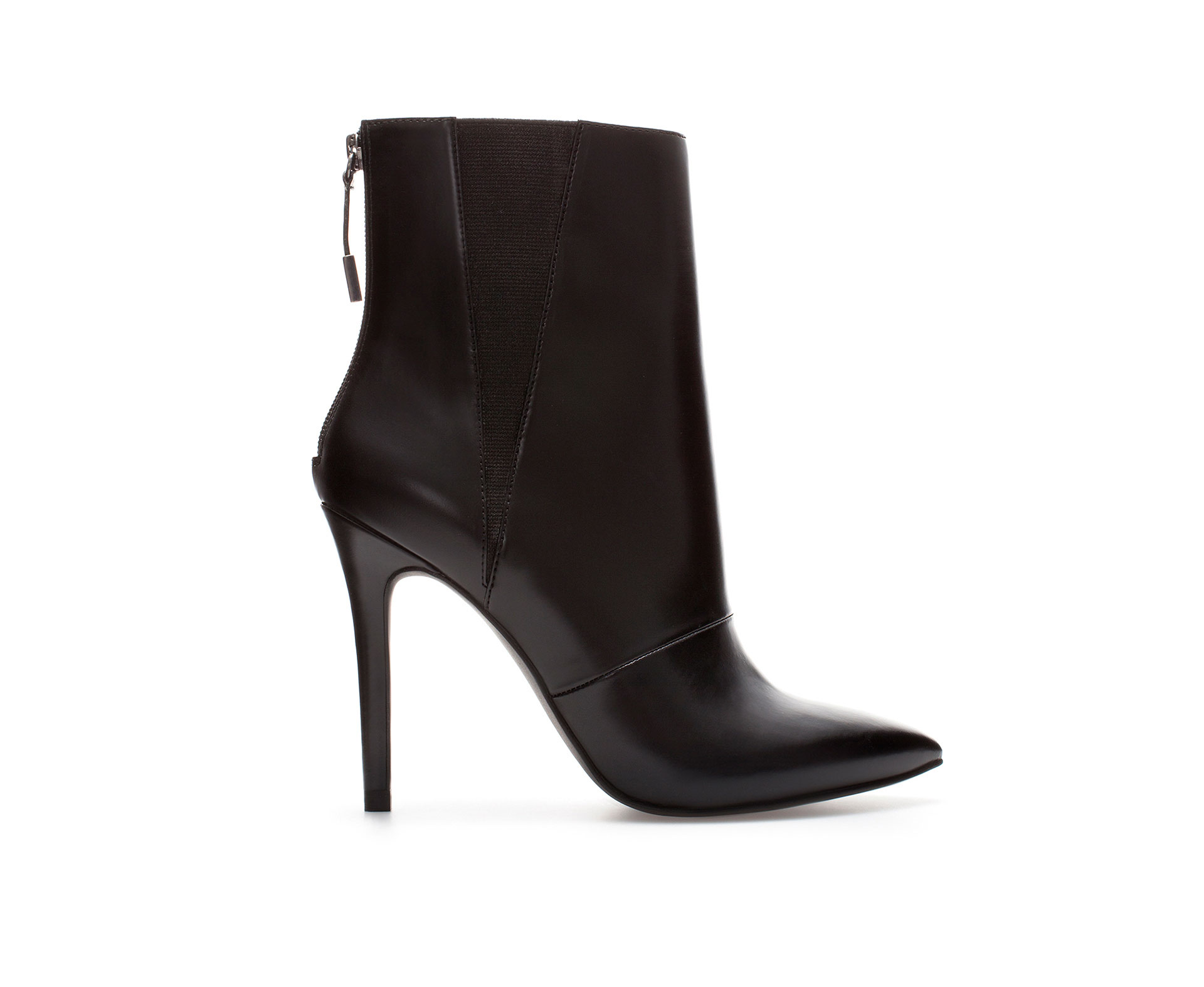Zara Stiletto Heel Ankle Boot in Black | Lyst