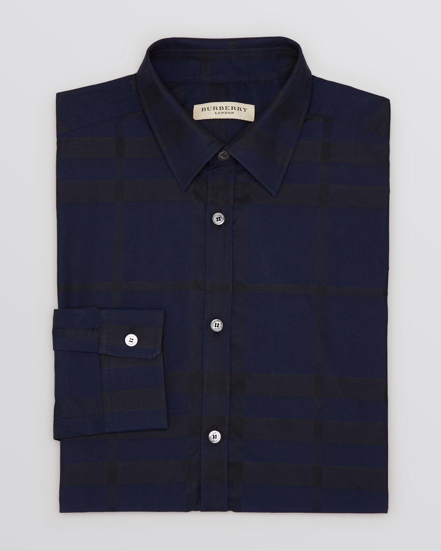 Burberry London Treyforth Check Dress Shirt Contemporary