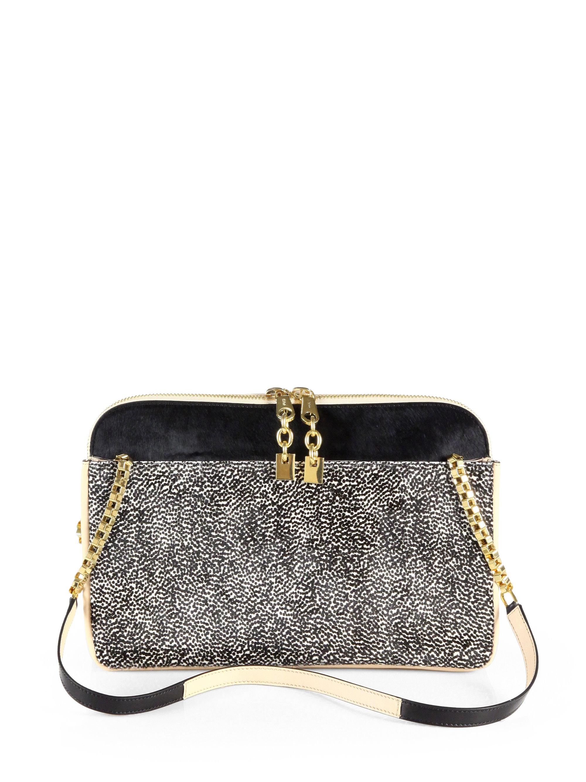 Chlo¨¦ Lucy Dot Print Shoulder Bag in Black | Lyst