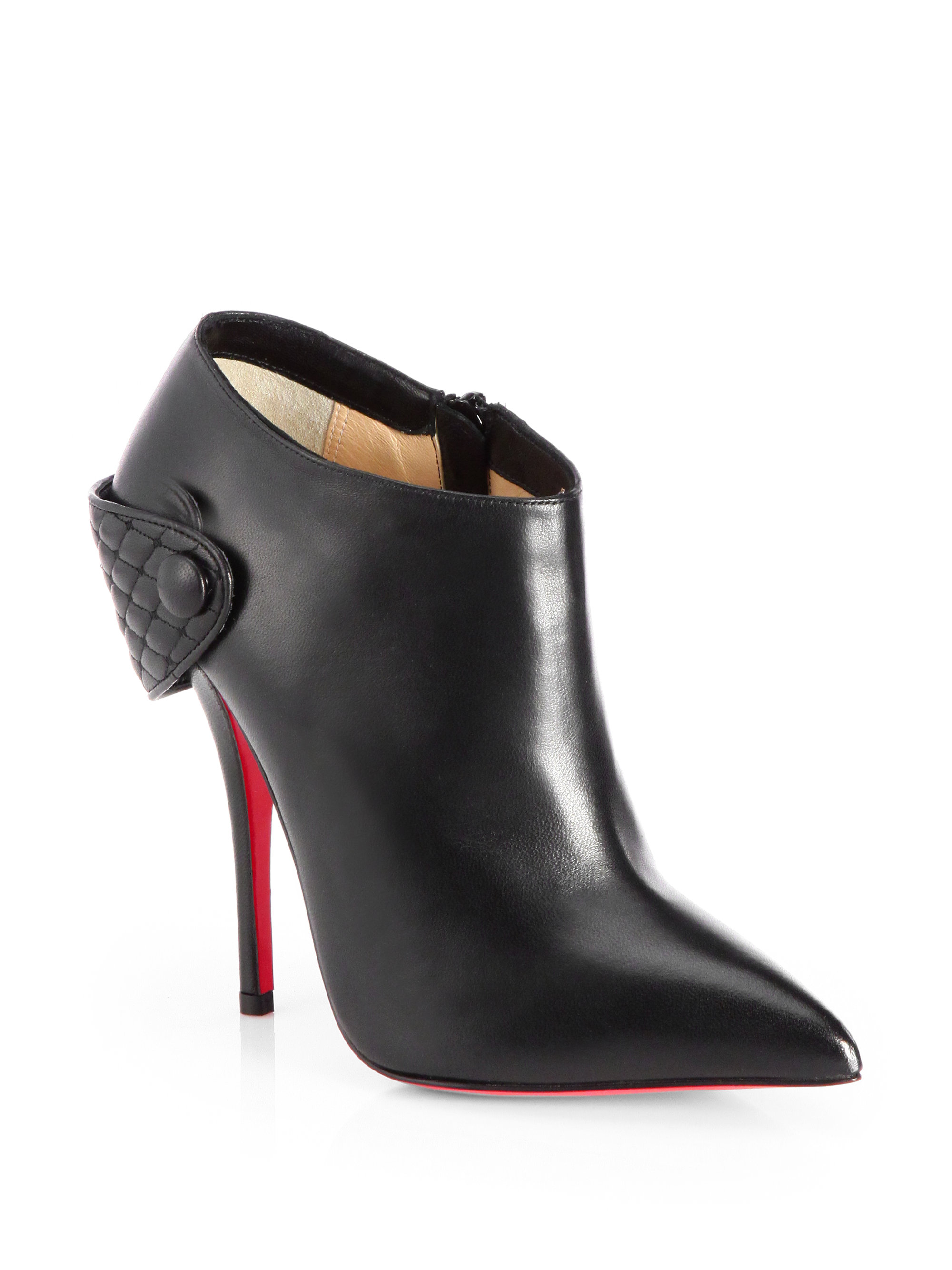 Lyst Christian Louboutin Huguette Leather Moto Ankle