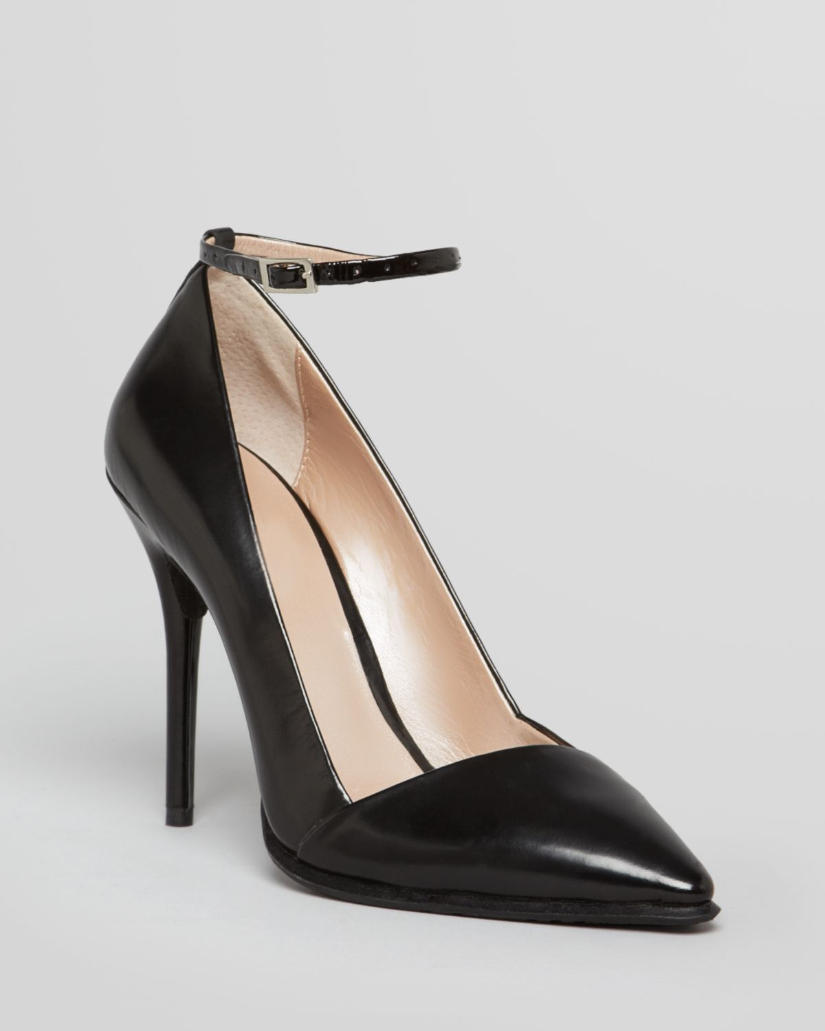 Lyst - Dkny Pointed Toe Pumps Saffi Ankle Strap High Heel in Black