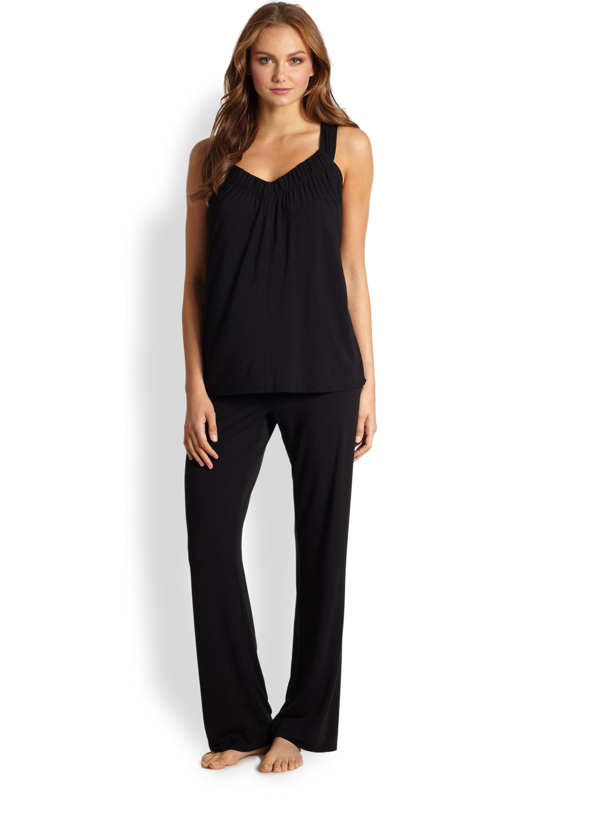 Donna karan new york sleeveless liquid jersey pajama set for Donna karan new york