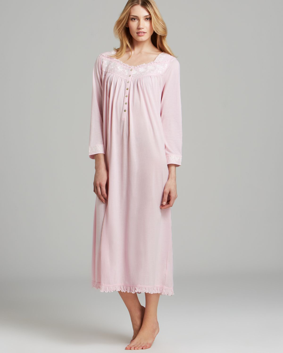 8c149a448a Lyst - Eileen West Blissful Poetry Long Sleeve Ballet Nightgown in Pink