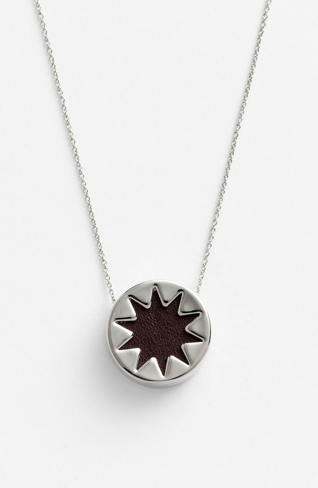 house of harlow mini sunburst pendant necklace in silver