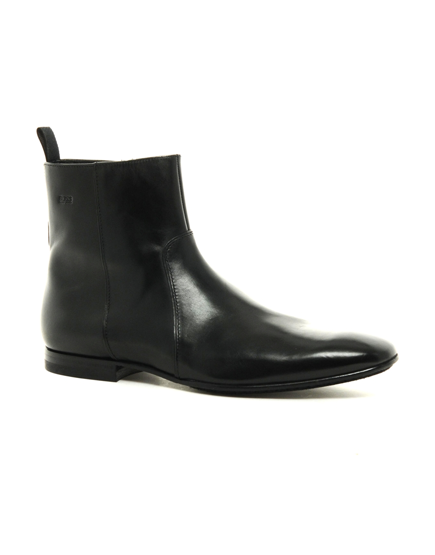 Loake Hannor Zip Boots in Black for Men | Lyst