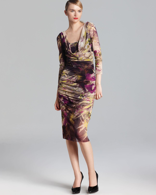 Lyst jean paul gaultier fuzzi dress winter floral tulle for Jean paul gaultier clothing