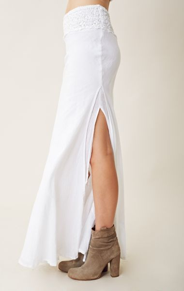 jen s pirate serenity maxi skirt in white lyst