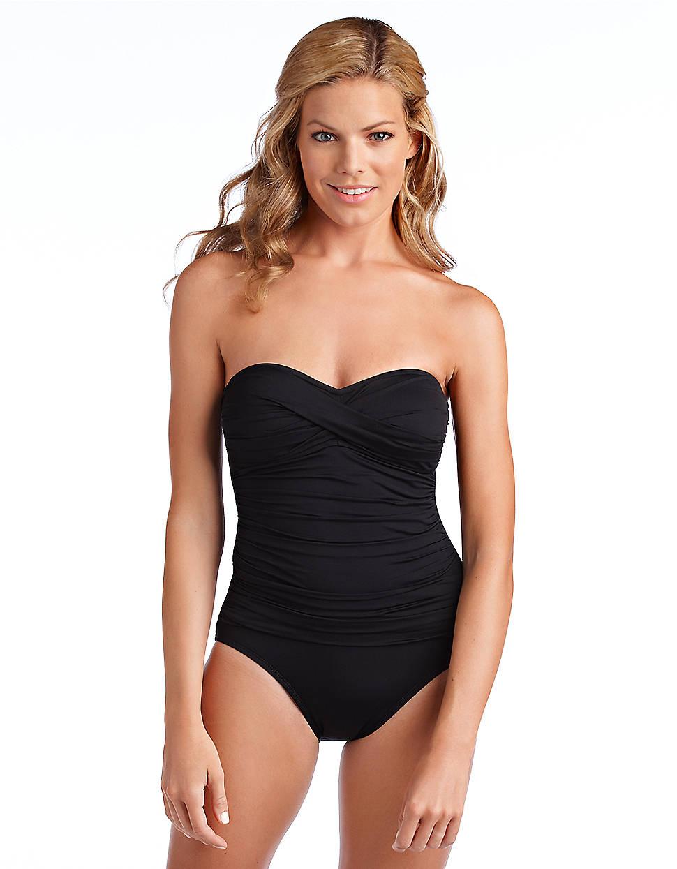 La Blanca Twist Bandeau One-Piece Swimsuit in Black | Lyst