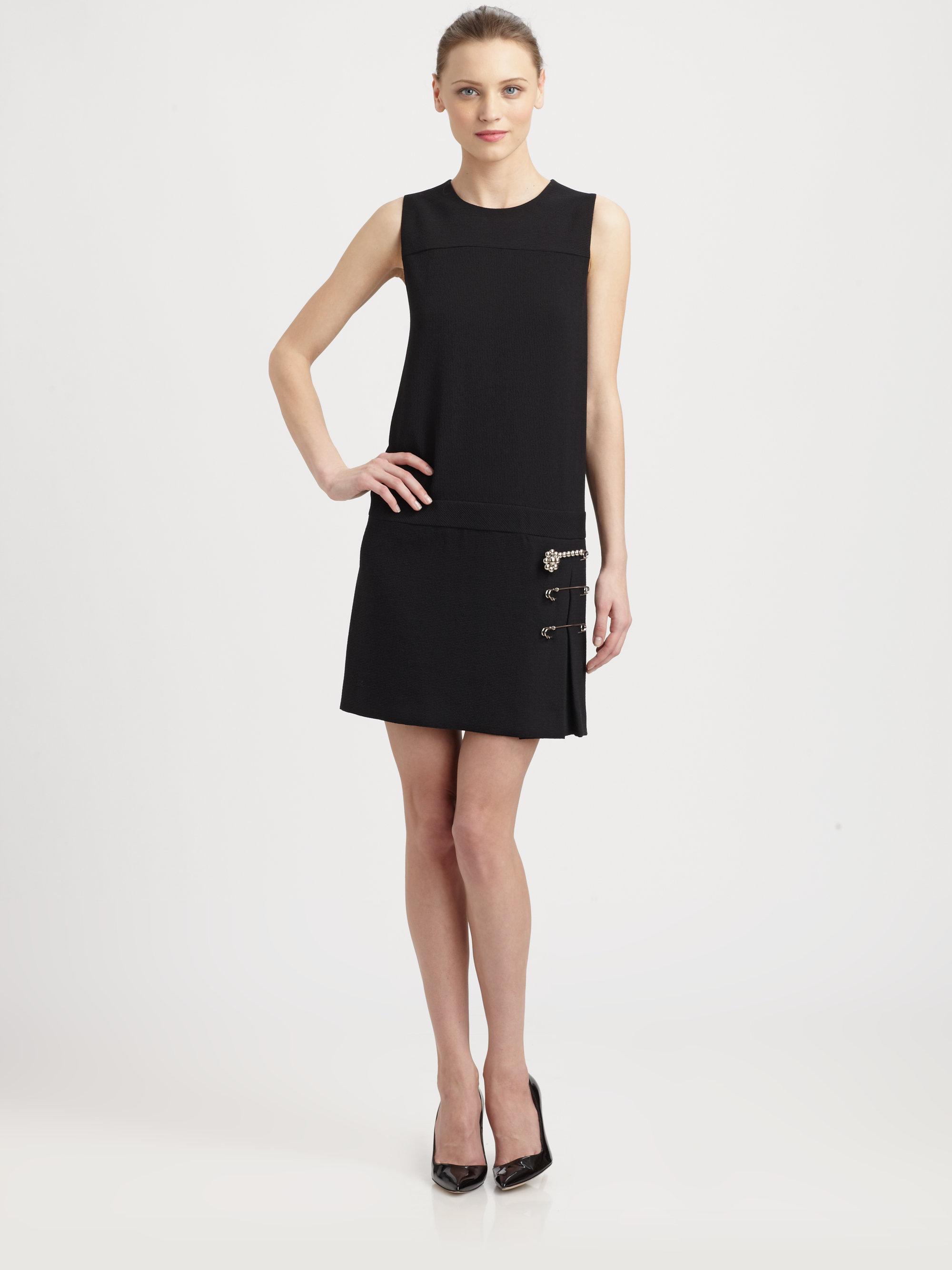 Moschino Cheap Chic Ottoman Dress In Black Lyst
