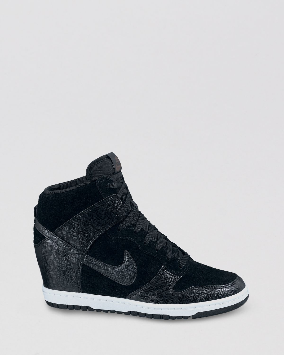31a0aa645848 Lyst - Nike High Top Lace Up Sneakers Womens Dunk Sky Hi in Black