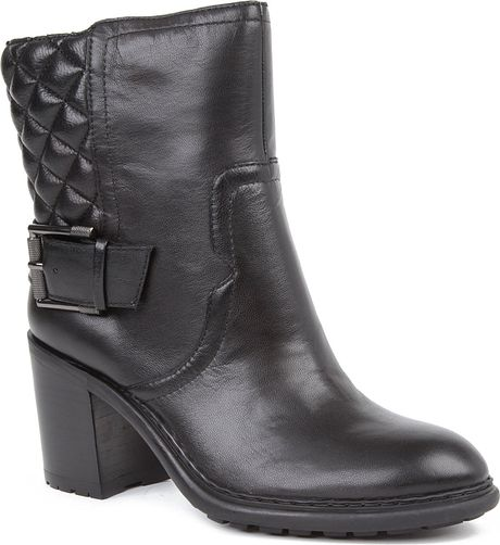 nine west layea leather ankle boots in black lyst