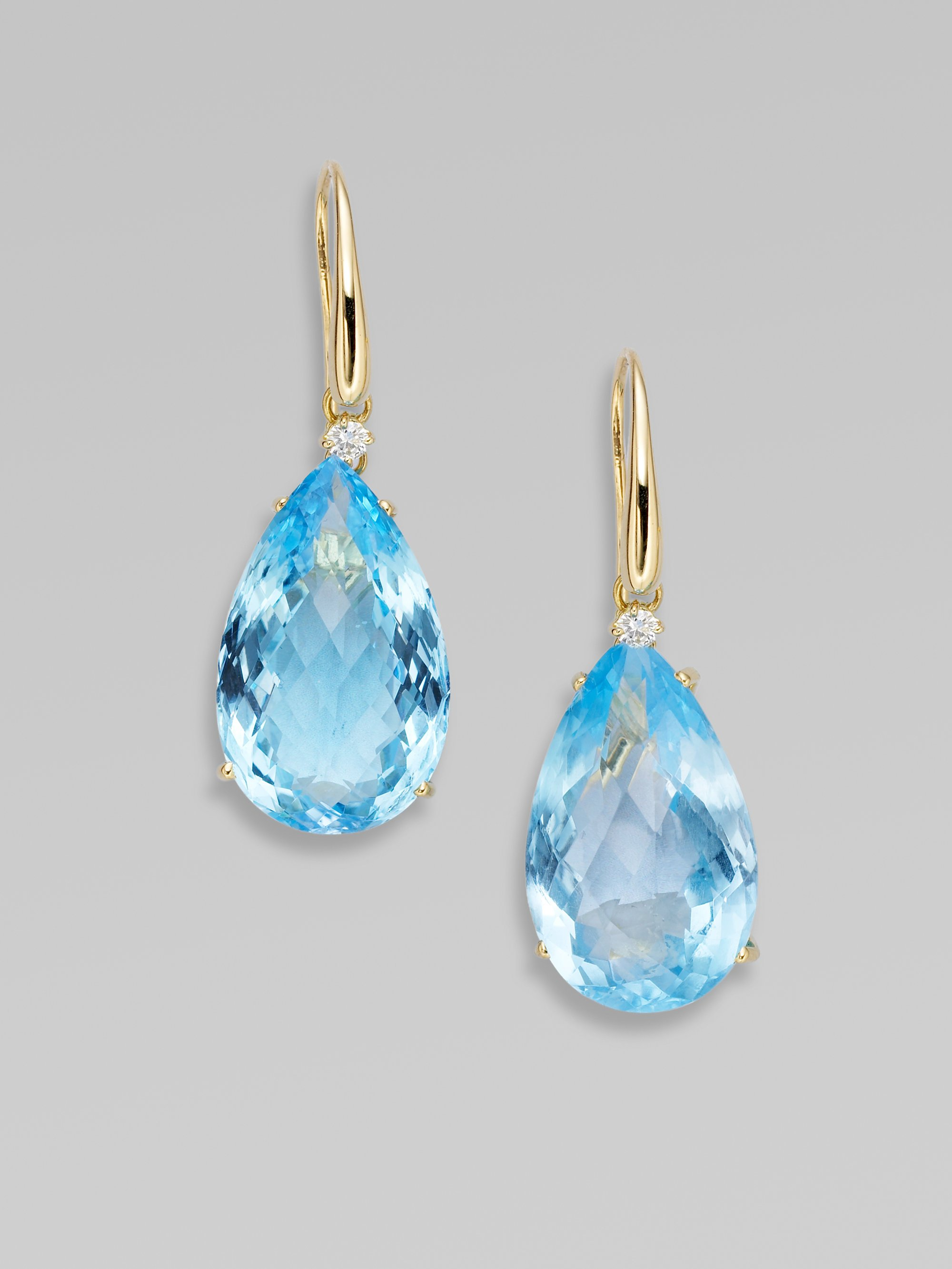 blue and jewelry jewellery diamond jupiter topaz earrings