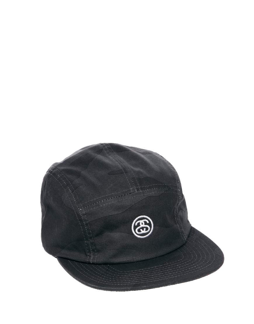 Lyst - Stussy Classic Camo Ss Link 5 Panel Cap in Black for Men 335e6d27cd1