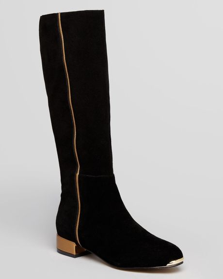 7415b2209 Ted Baker Tall Boots Passam Flat In Black