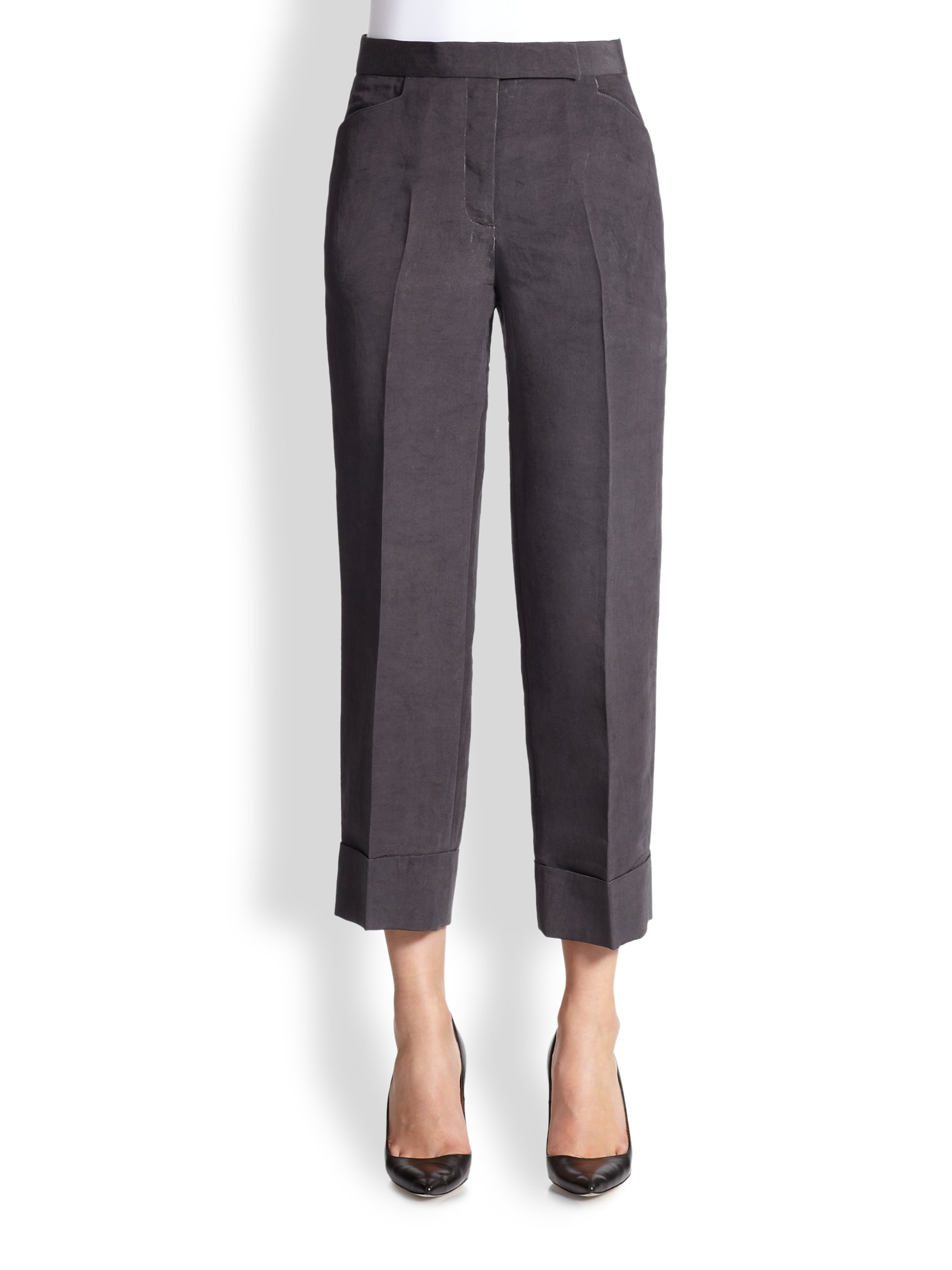 cropped trousers - Grey Thom Browne uieiON9m36