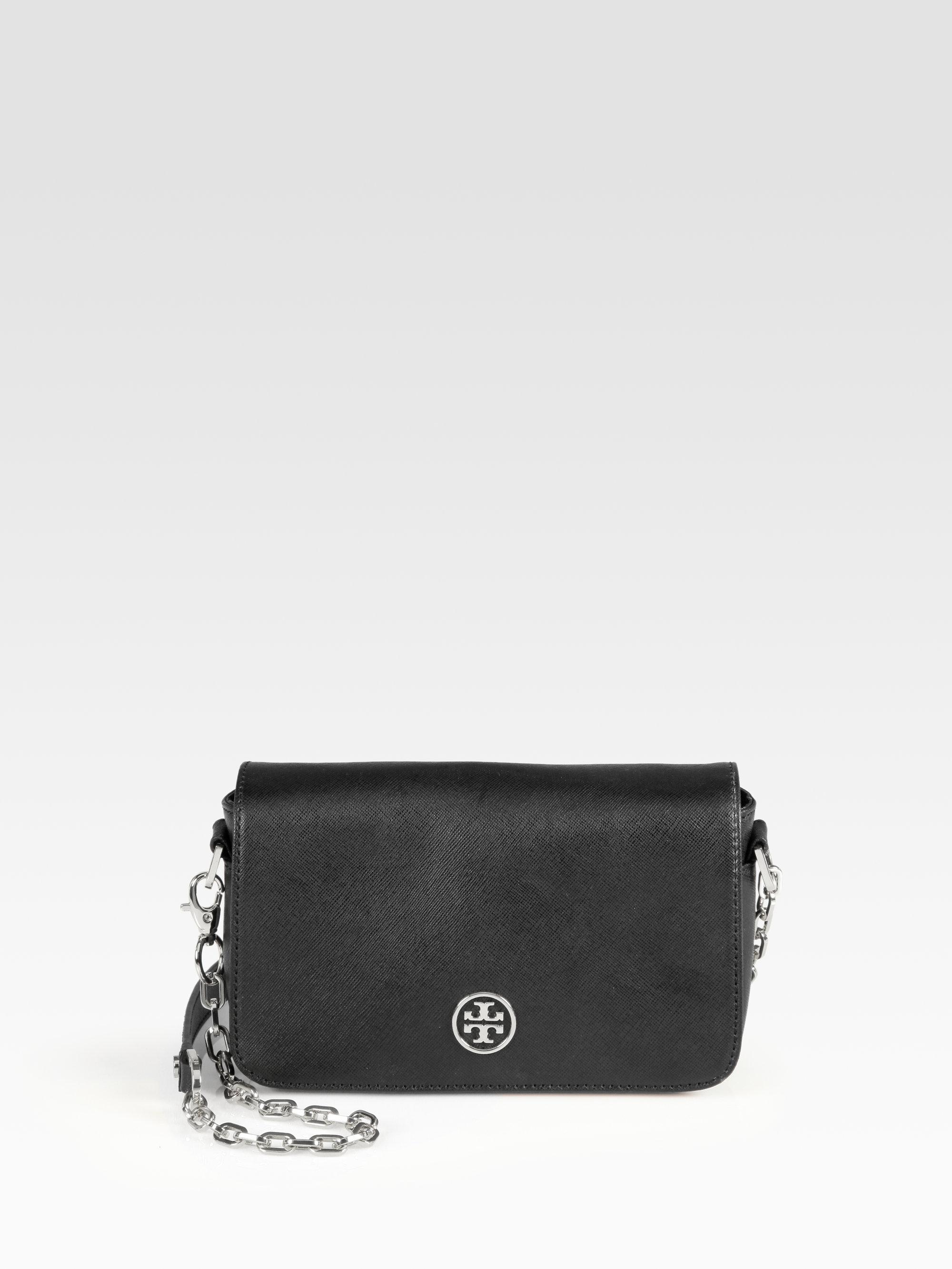 11dd99c6b01c Lyst - Tory Burch Robinson Chain Mini Bag in Black