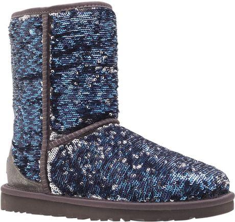 ugg classic short sequin boot