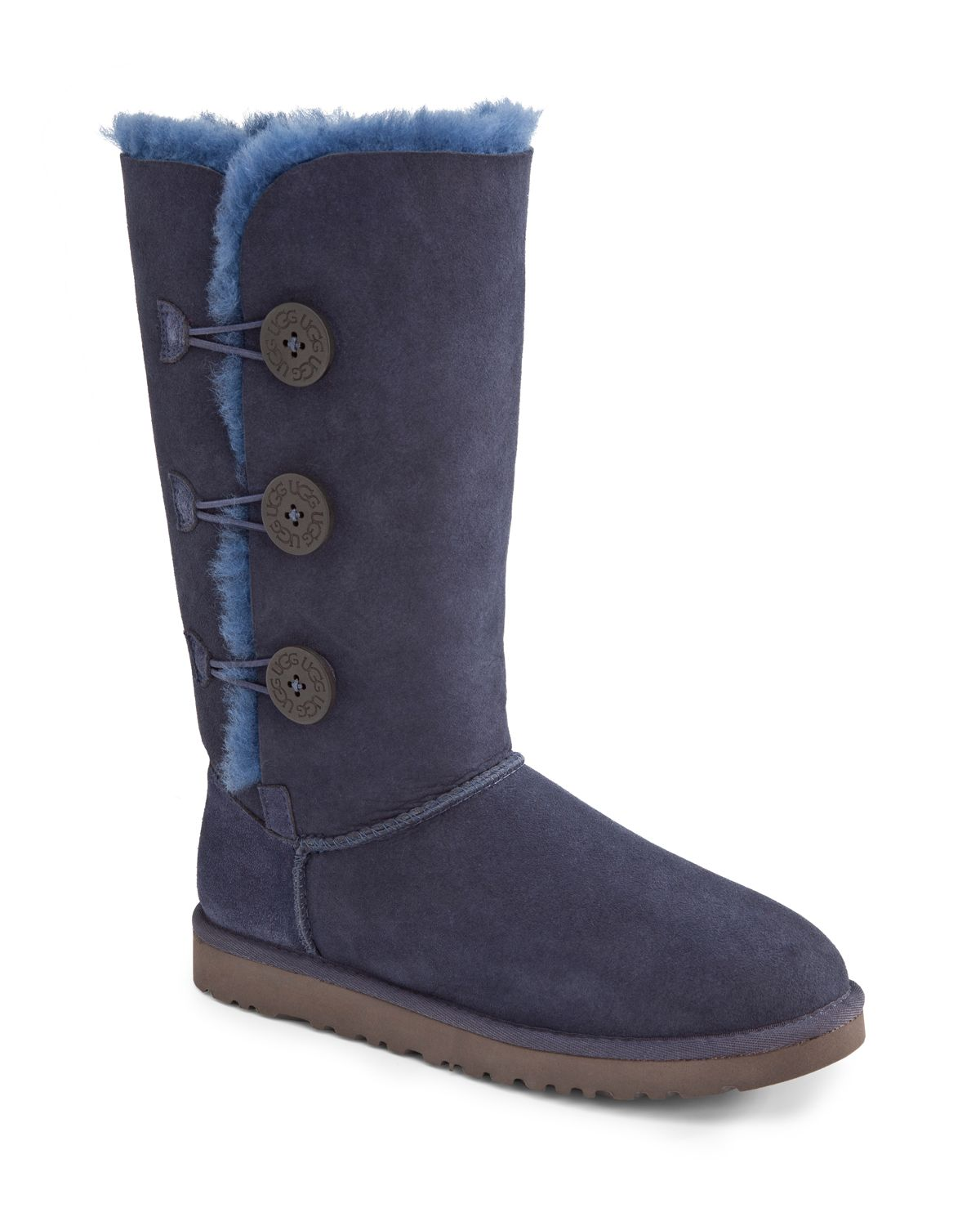 lyst ugg bailey button triplet boots in blue. Black Bedroom Furniture Sets. Home Design Ideas