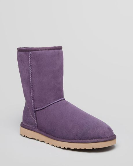 Ugg Classic Short Boots in Purple Purple Velvet Lyst