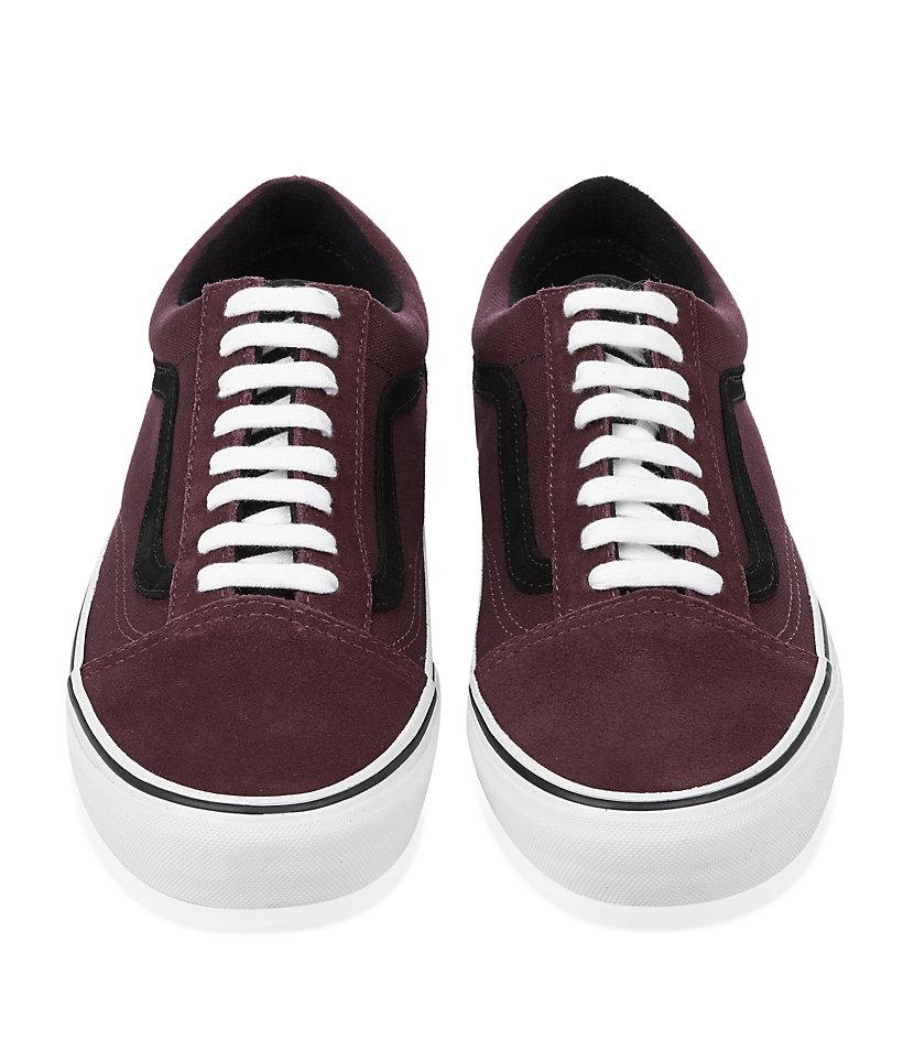 7f9864fcf220a5 Purple Shoes For Skool In Vans Old Burgundy Lyst Men TYwEqnXx5