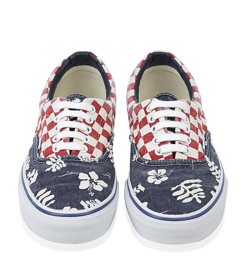 Vans Van Doren Era Shoes in Checkerboard Aloha Print in Blue for ...
