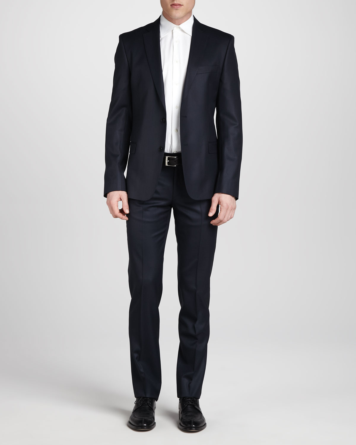 Versace Twobutton Wool Suit Regular Navy In Blue For Men