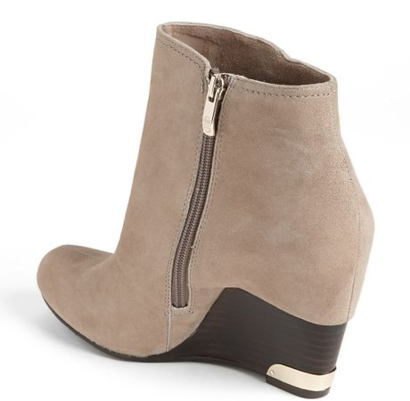 Vince Camuto Huxley Wedge Bootie In Brown Taupe Lyst