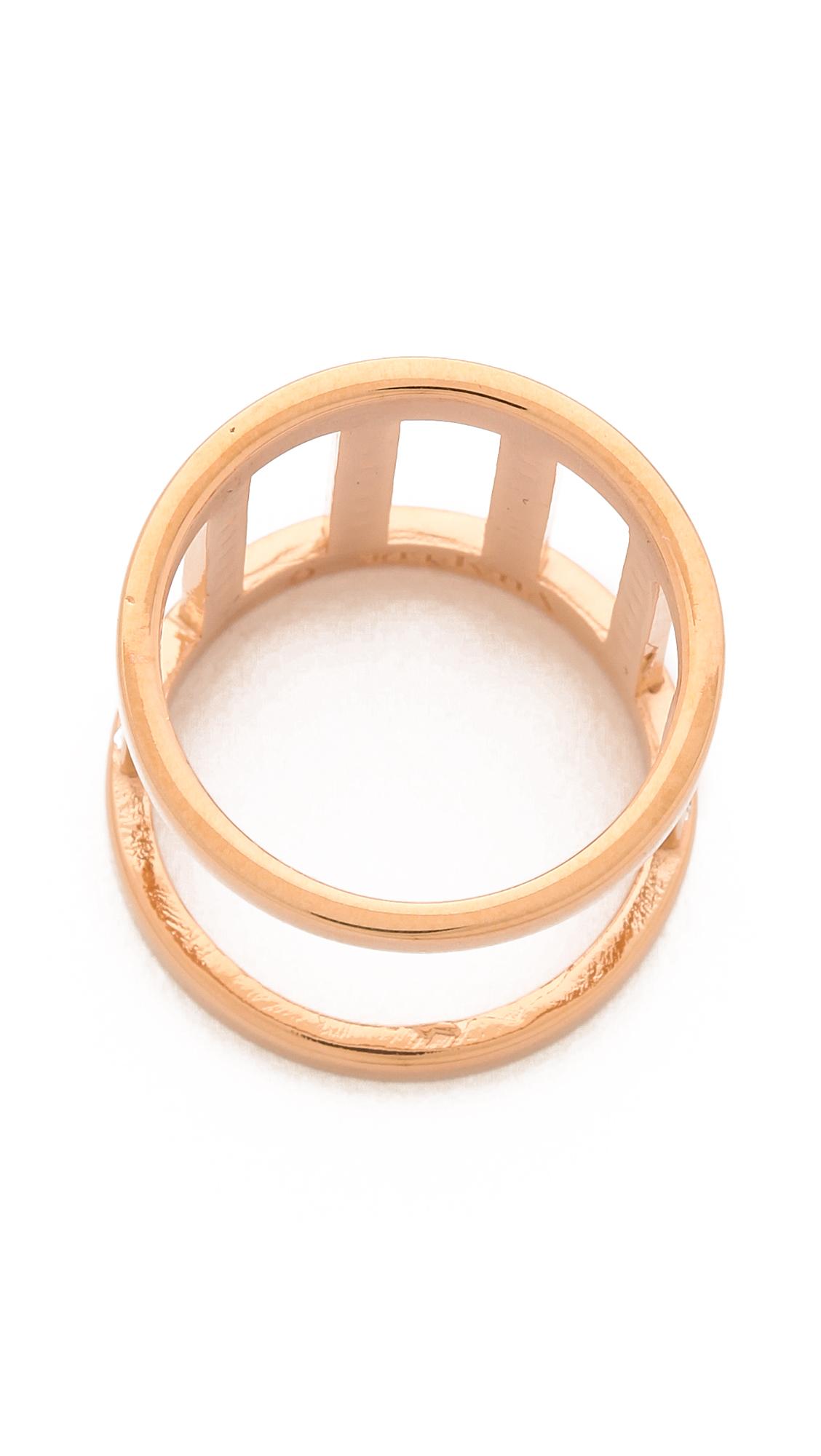 Vita Fede Pandora Crystal Ring In Rose Gold Metallic Lyst