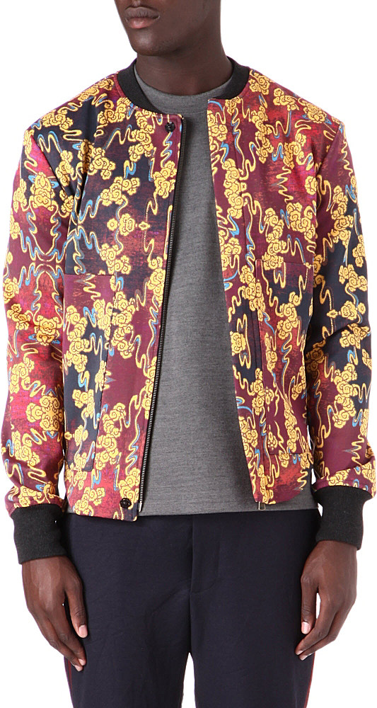 Vivienne westwood Chinese Cloud Print Bomber Jacket for Men | Lyst