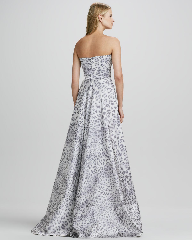 3c12d89f02 Lyst - Cusp Malene Leopard Strapless Ball Gown