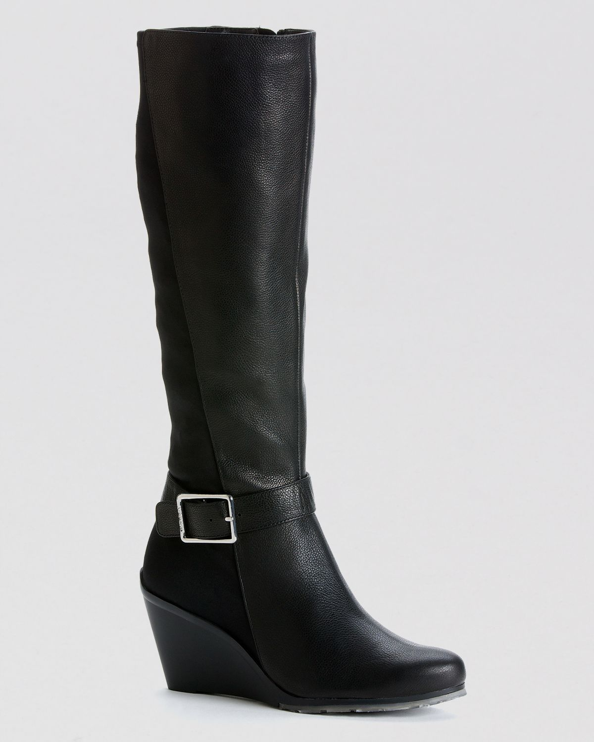Lyst Calvin Klein Tall Wedge Boots Taya Stretch Back In