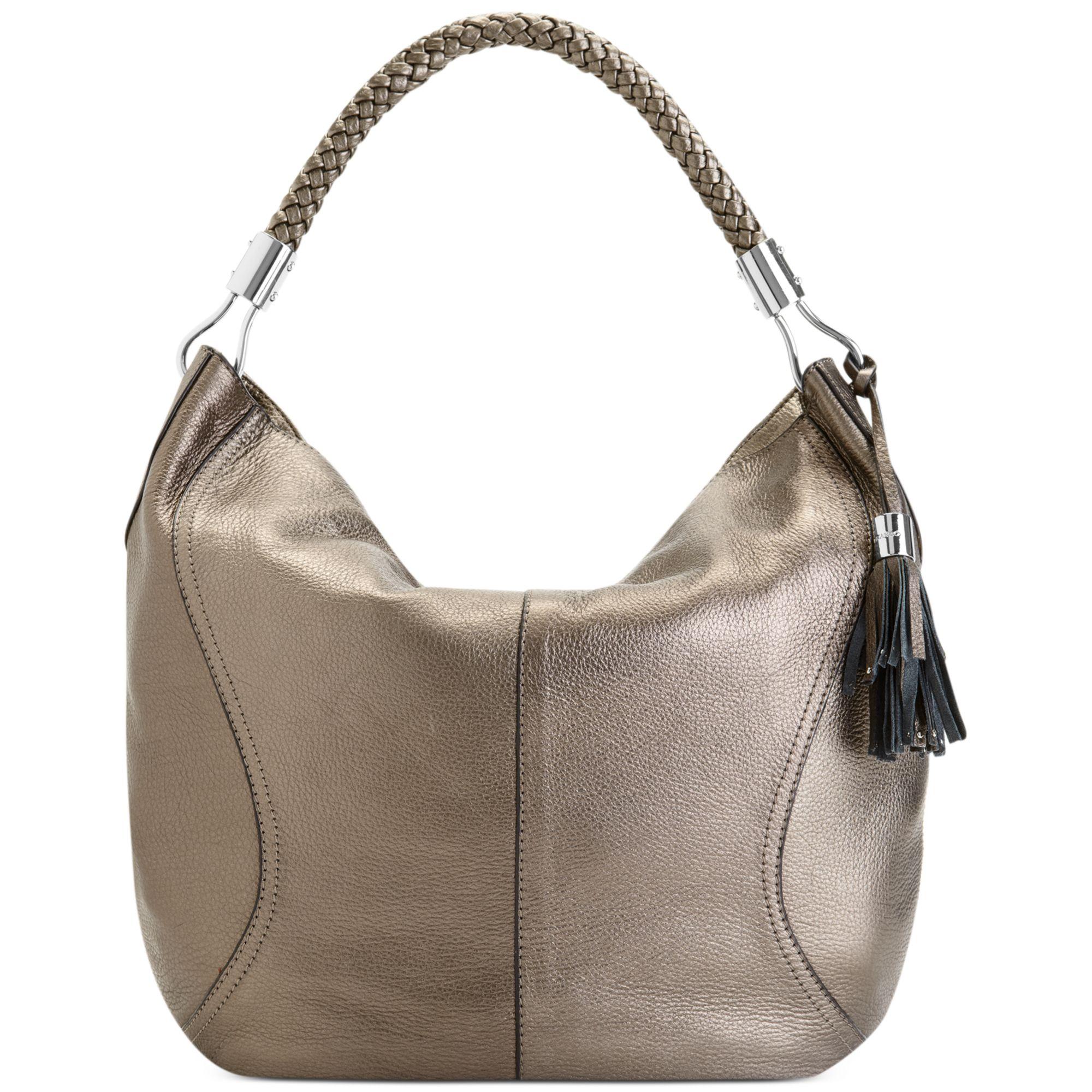 Lyst Franco Sarto Lafayette Leather Hobo In Metallic